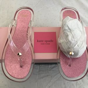 Kate spade clear sandals. NWT, pink/ clear,